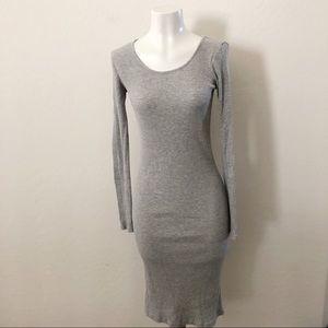 Forever 21 grey long sleeve dress
